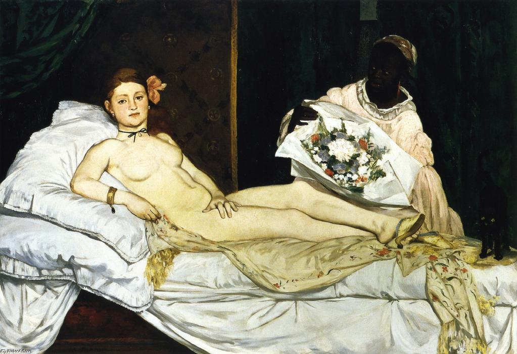 famous painting Olimpia of Edouard Manet