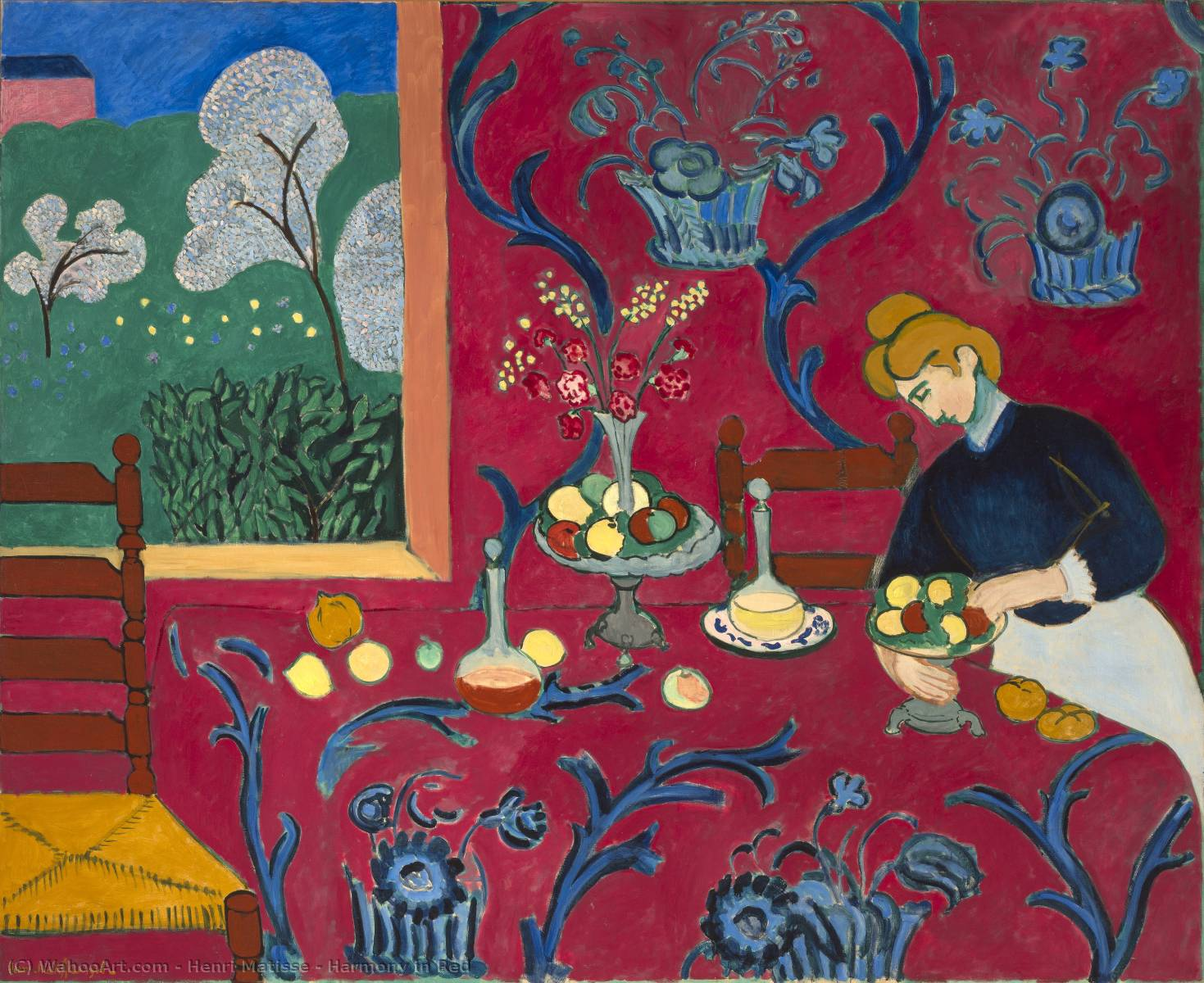 | Armonia in rosso di Henri Matisse | Most-Famous-Paintings.com