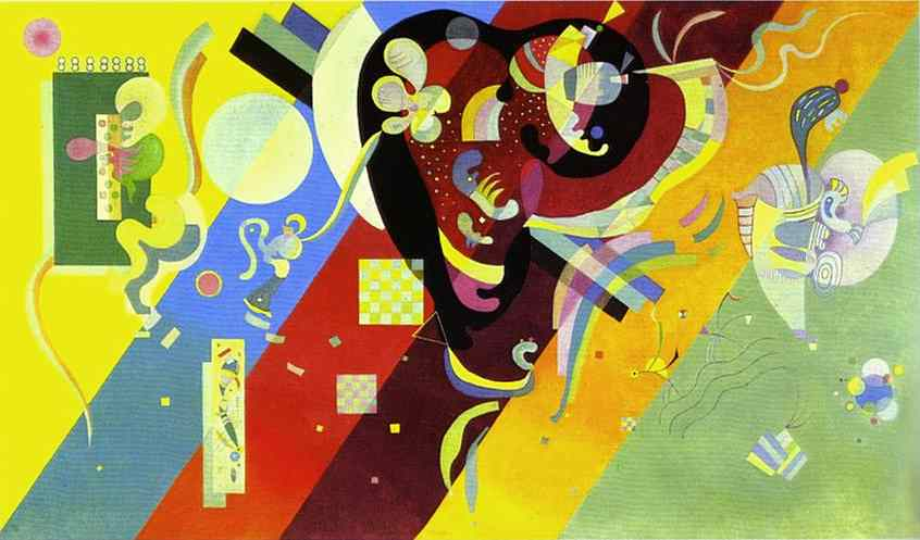 famous painting Composizione LX of Wassily Kandinsky