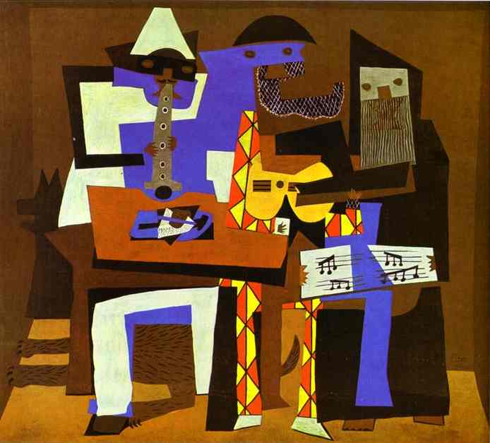| tre musicisti di Pablo Picasso | Most-Famous-Paintings.com