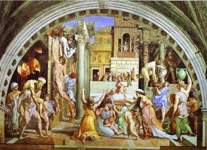 Raphael (Raffaello Sanzio Da Urbino) - the burning of the borgo