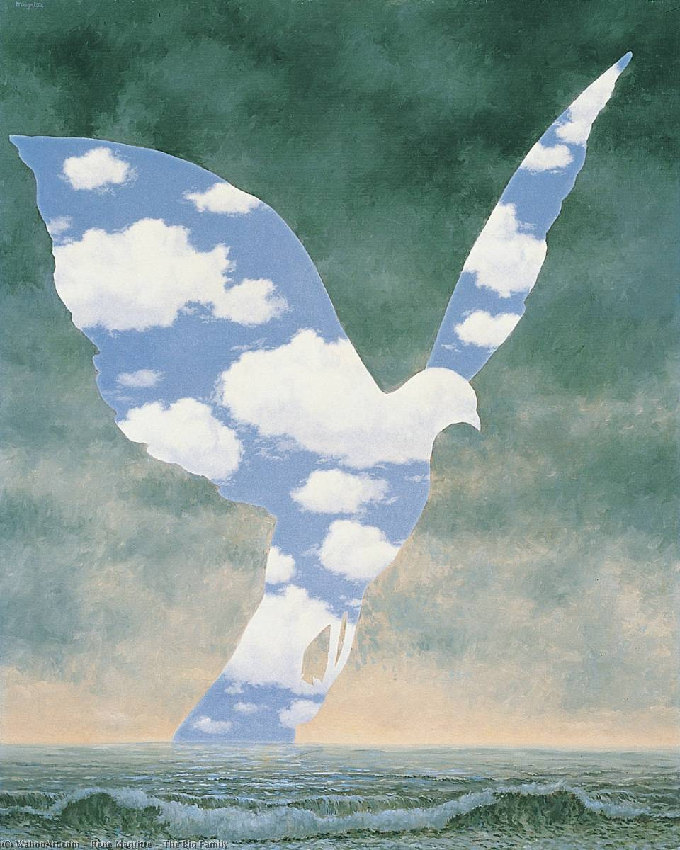 | il grande famiglia di Rene Magritte | Most-Famous-Paintings.com