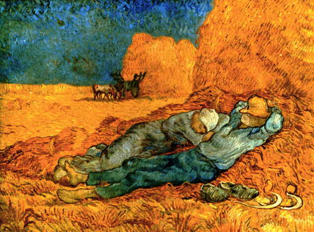 famous painting Noon, riposo dal lavoro (dopo miglio) [188 of Vincent Van Gogh