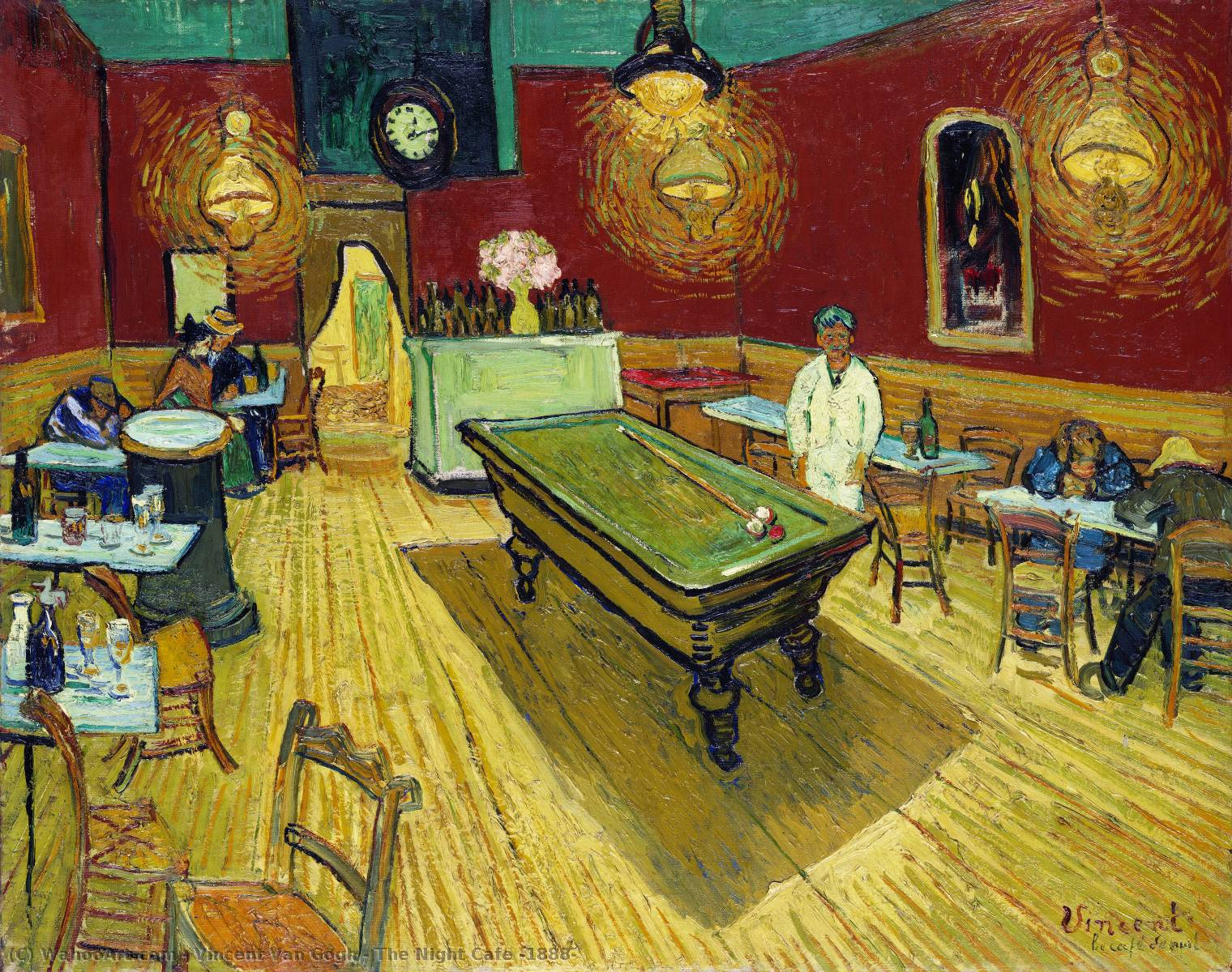 Ordinare Stampe Di Qualità Del Museo | il notte caffè di Vincent Van Gogh | Most-Famous-Paintings.com