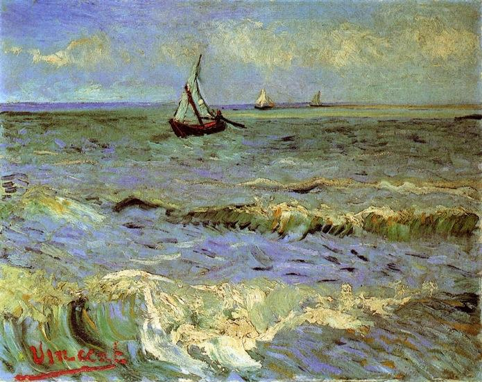 famous painting Paesaggio marino a Saintes-Maries of Vincent Van Gogh