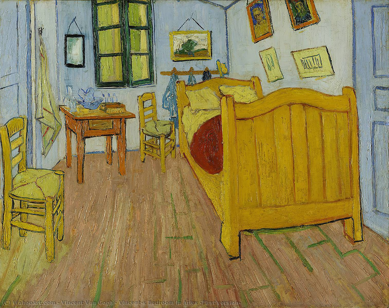 Ordinare Stampe Di Qualità Del Museo | Vincent's camera da letto ad arles ( Prima versione ) di Vincent Van Gogh | Most-Famous-Paintings.com