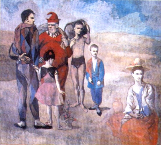 | Saltimbanques ( la famiglia di saltimbanques ) di Pablo Picasso | Most-Famous-Paintings.com