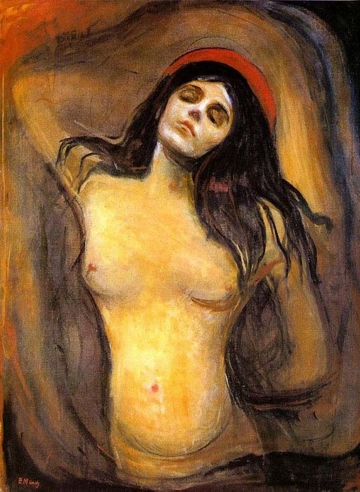 famous painting Madonna of Edvard Munch