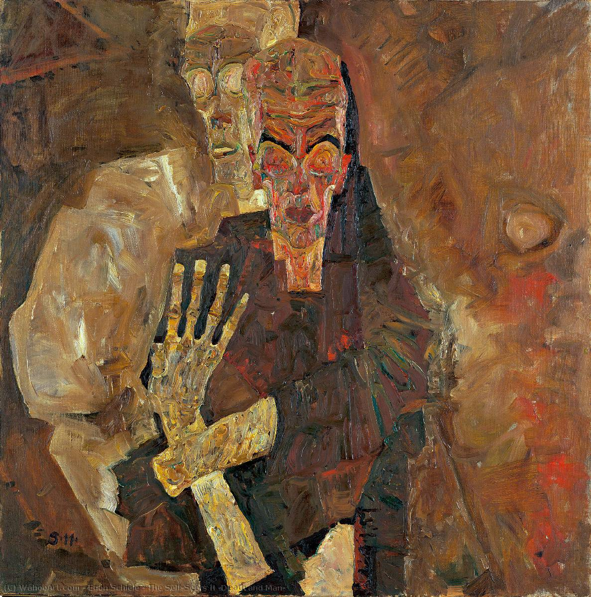 famous painting Il Self-Seers II ( morte e uomo ) of Egon Schiele