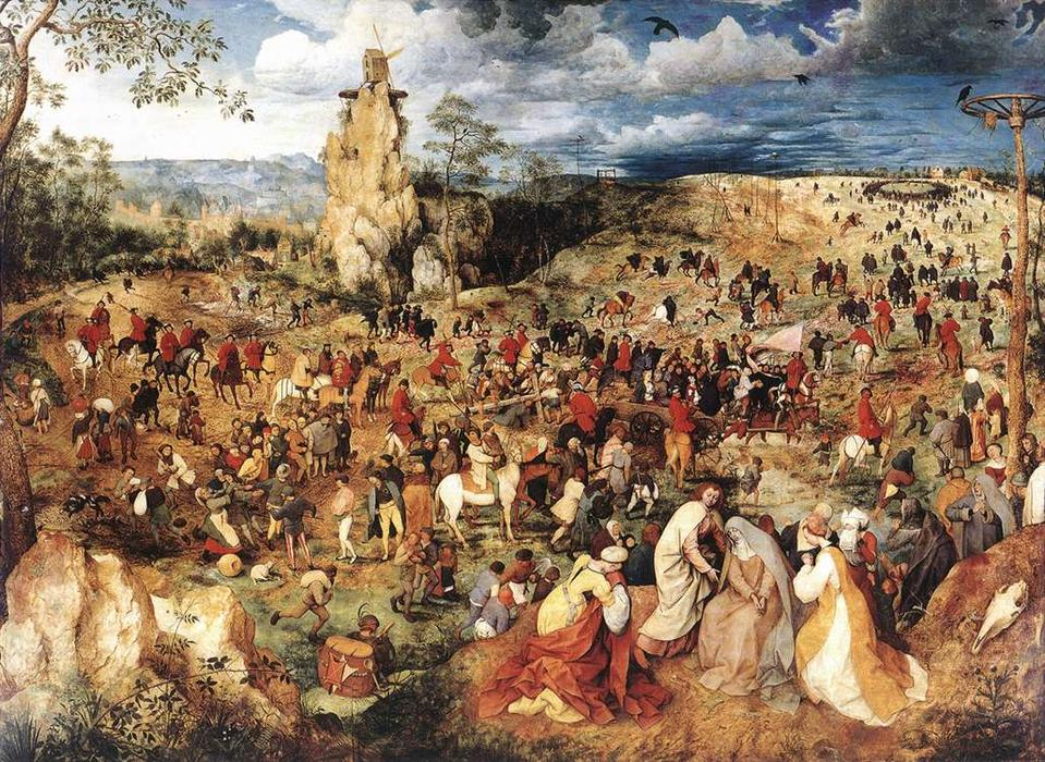 Compra Riproduzioni D'arte Del Museo | Cristo portacroce cross di Pieter Bruegel The Elder | Most-Famous-Paintings.com