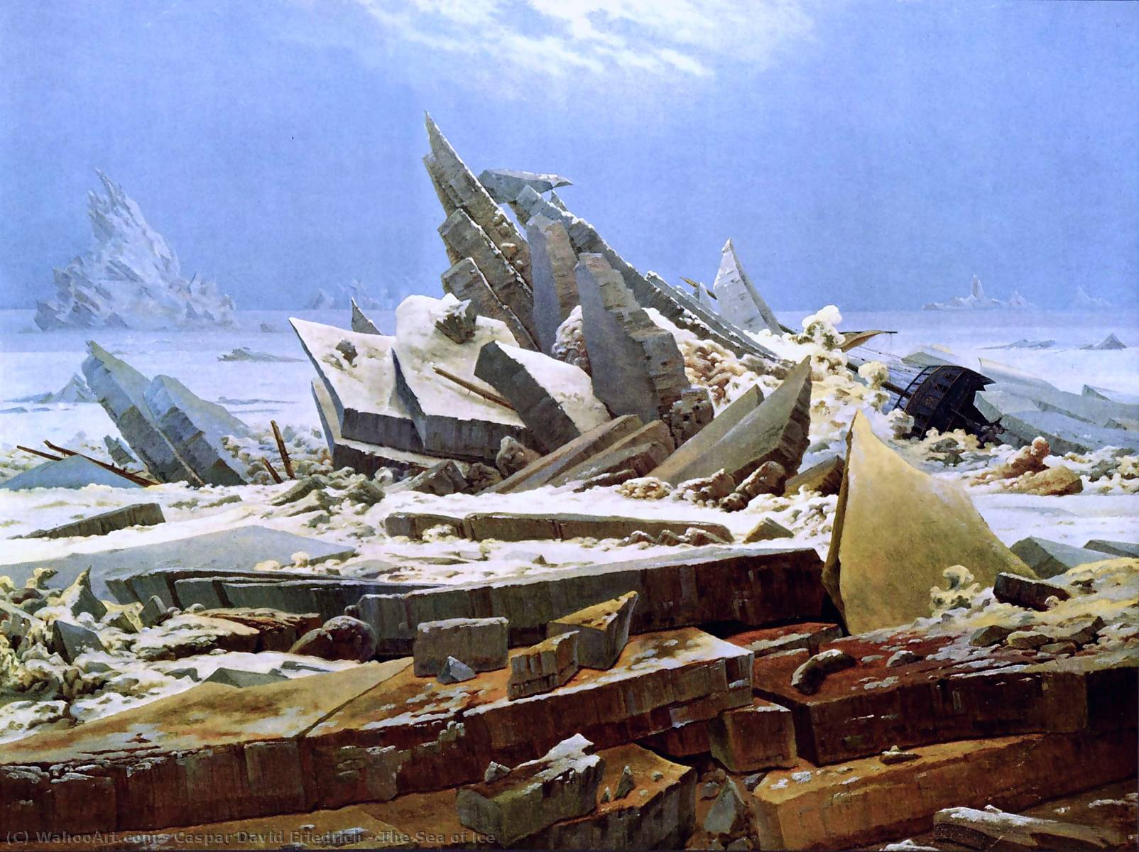 famous painting Il mare di ghiaccio of Caspar David Friedrich