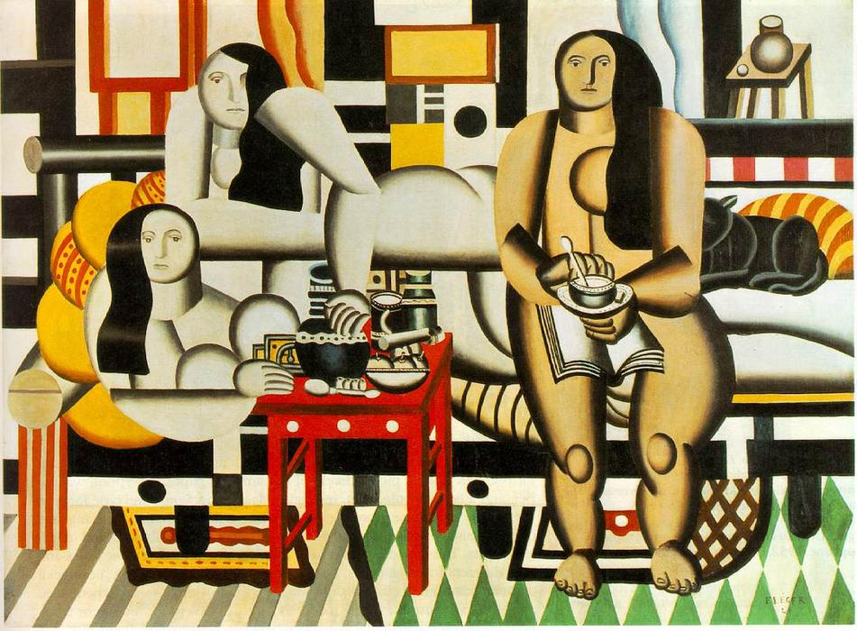 | tre donne di Fernand Leger | Most-Famous-Paintings.com
