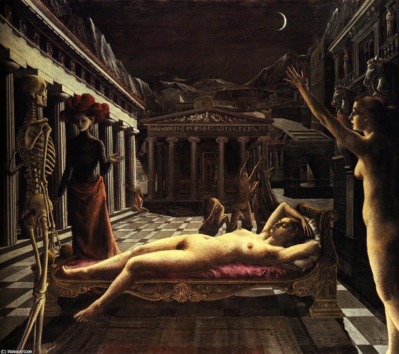 | il dormire venus di Paul Delvaux | Most-Famous-Paintings.com