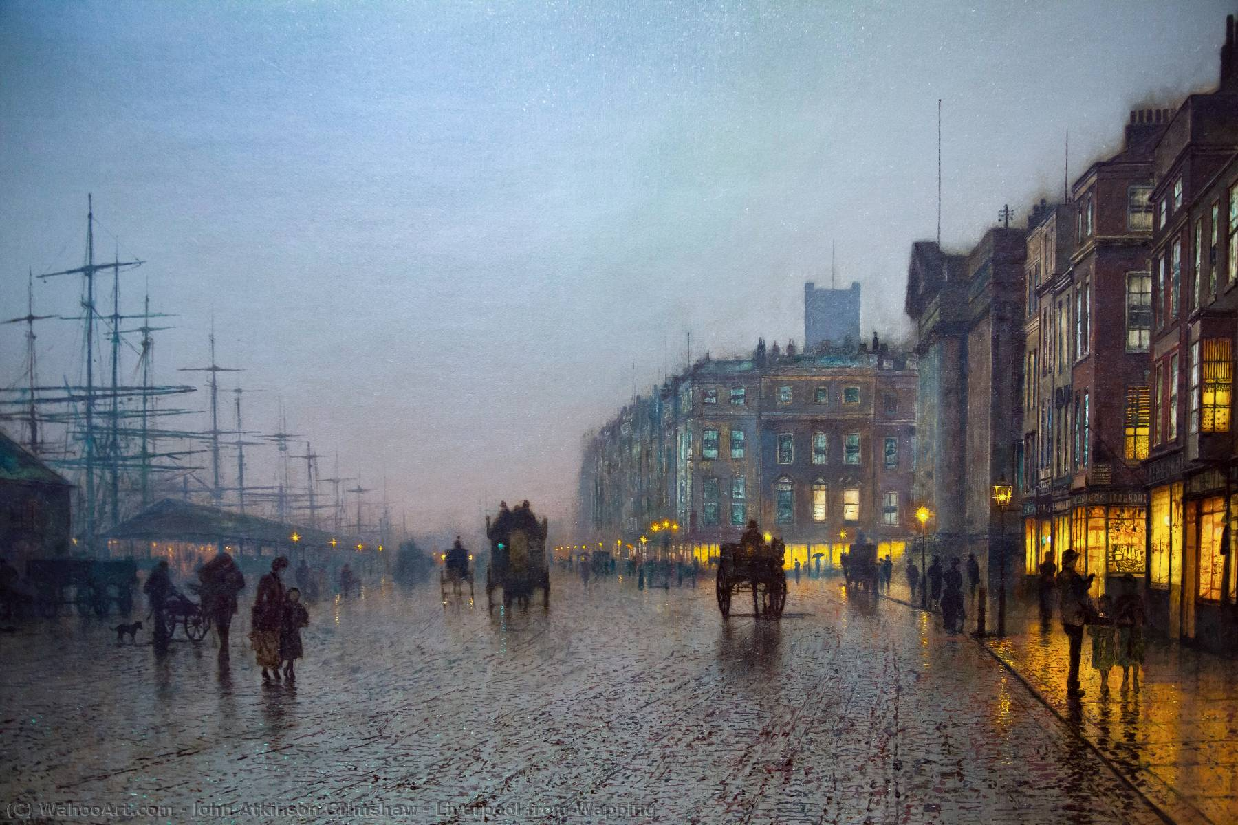 famous painting liverpool da wapping of John Atkinson Grimshaw