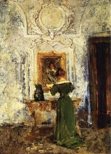William Merritt Chase - donna verde aka Signora in Verde