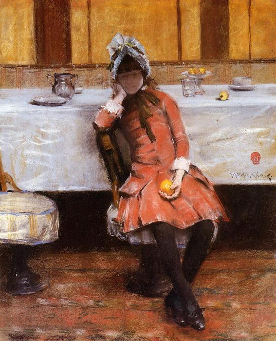 Ordinare Riproduzioni Di Quadri | Ragazza su un oceano Steamer di William Merritt Chase | Most-Famous-Paintings.com