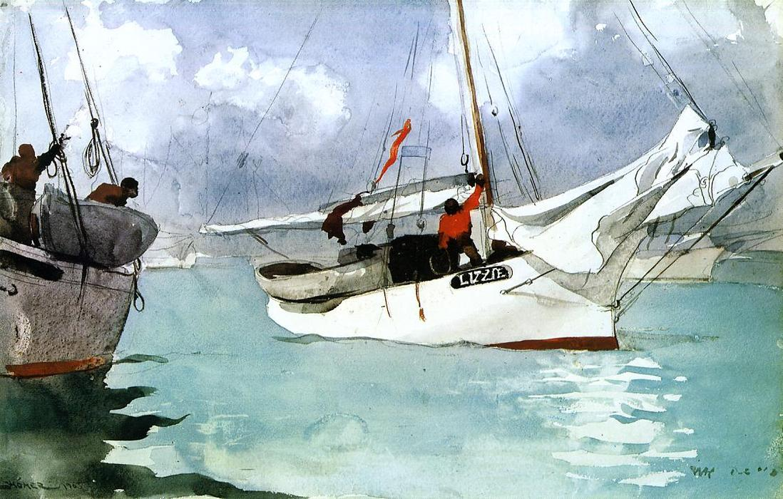 Ordinare Riproduzioni Di Quadri | pescherecci , key west di Winslow Homer | Most-Famous-Paintings.com