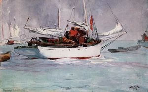 Winslow Homer - sponge` barche Chiave Ovest