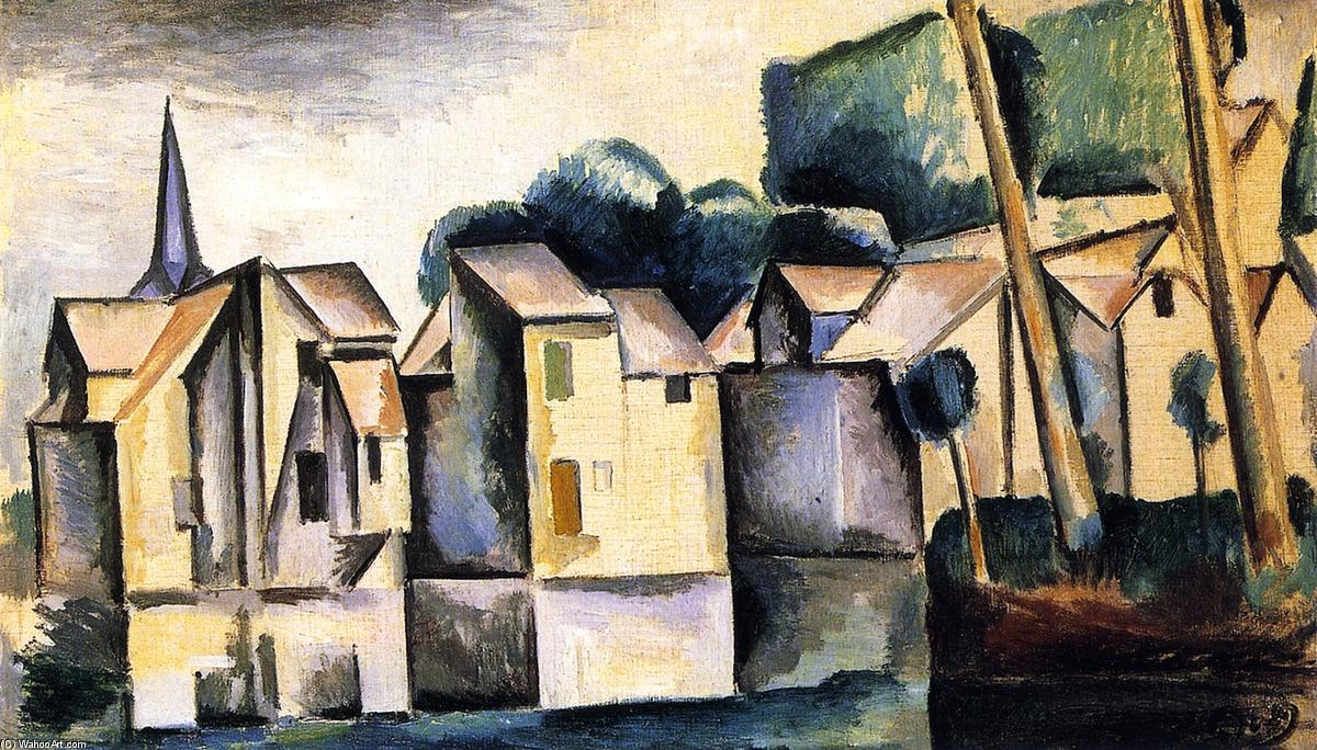 famous painting Case sul Waterfront of André Derain
