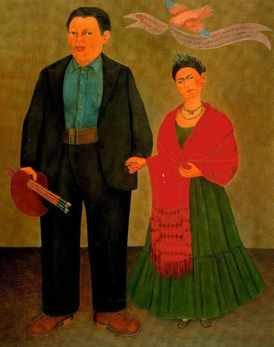 | frida e diego rivera di Frida Kahlo | Most-Famous-Paintings.com