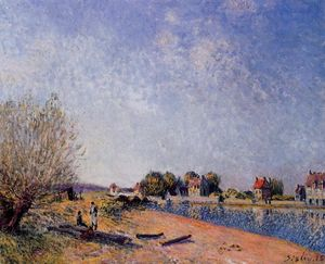 Alfred Sisley - Loing Canal a Saint Mammes