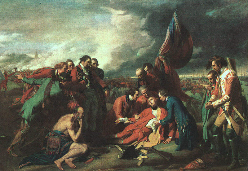 Ordinare Riproduzioni D'arte | La morte di Wolfe di Benjamin West | Most-Famous-Paintings.com
