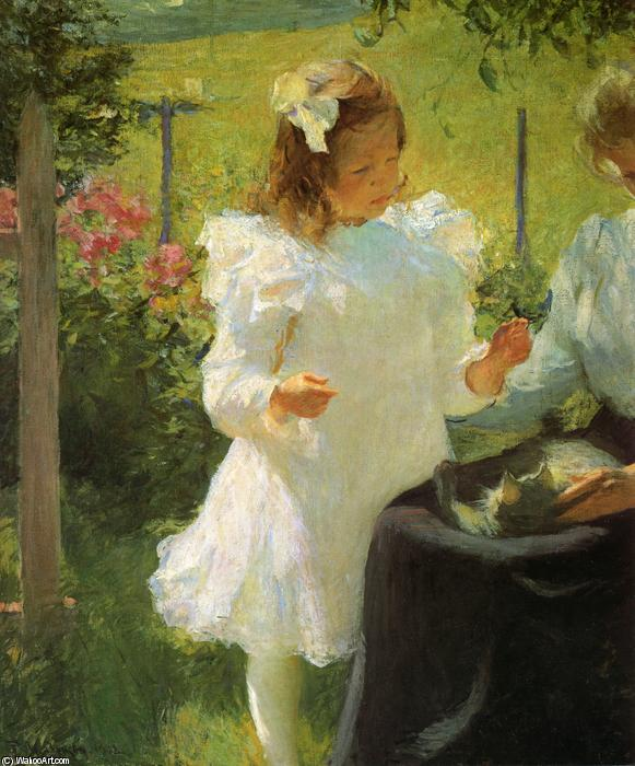 famous painting la luce del sole of Frank Weston Benson