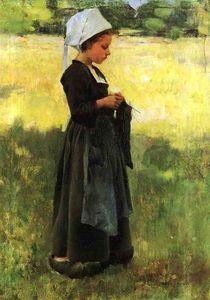 Willard Leroy Metcalf - Breton ragazza