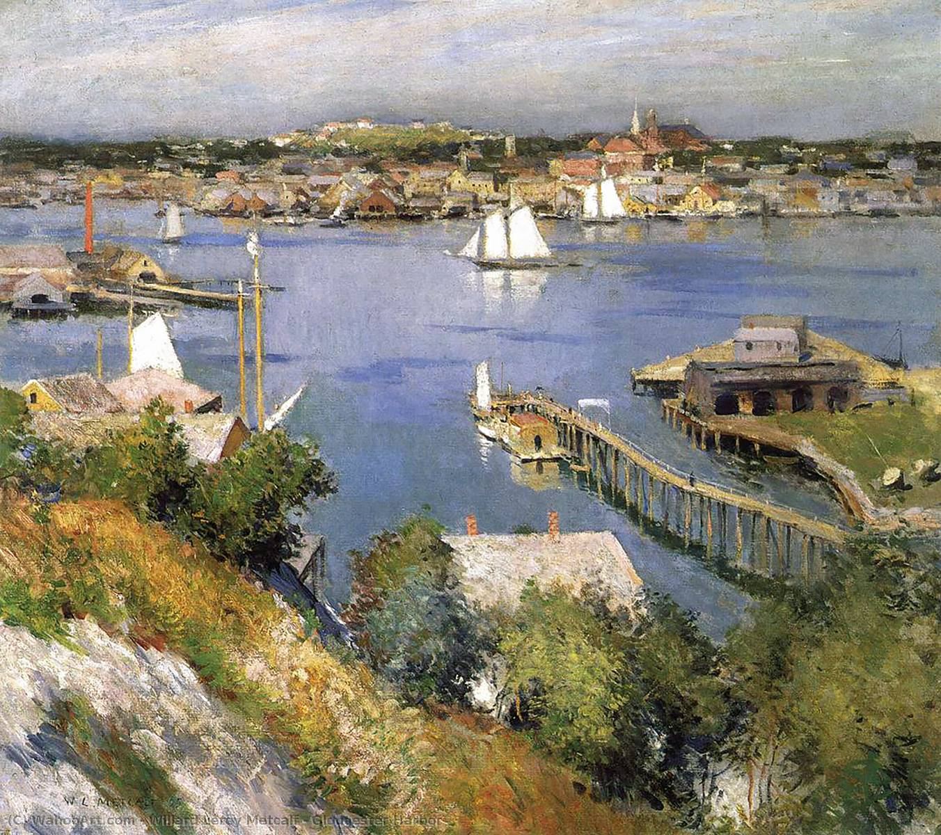 Ordinare Riproduzioni Di Belle Arti | porto di gloucester di Willard Leroy Metcalf | Most-Famous-Paintings.com