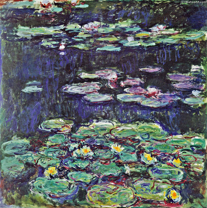 famous painting acqua gigli 43 of Claude Monet