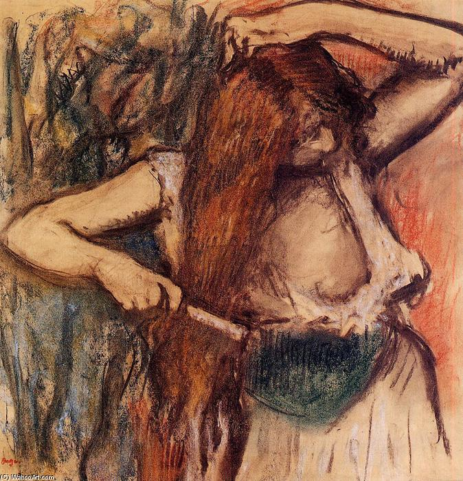 famous painting Donna che si pettina of Edgar Degas