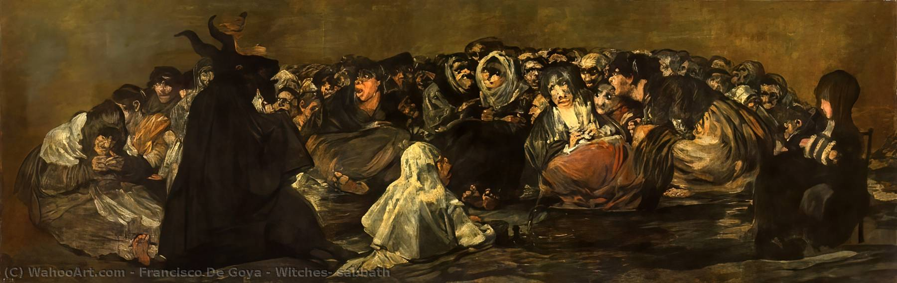 famous painting Sabato Streghe of Francisco De Goya
