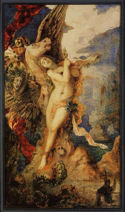 famous painting Perseo e Andromeda of Gustave Moreau