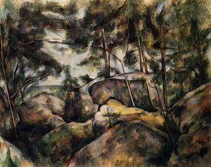 Paul Cezanne - Rocks at Fountainebleau