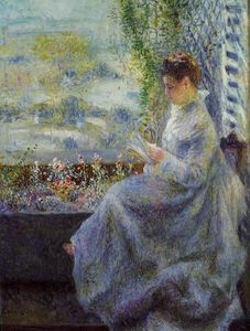 Pierre-Auguste Renoir - La signora Chocquet Reading
