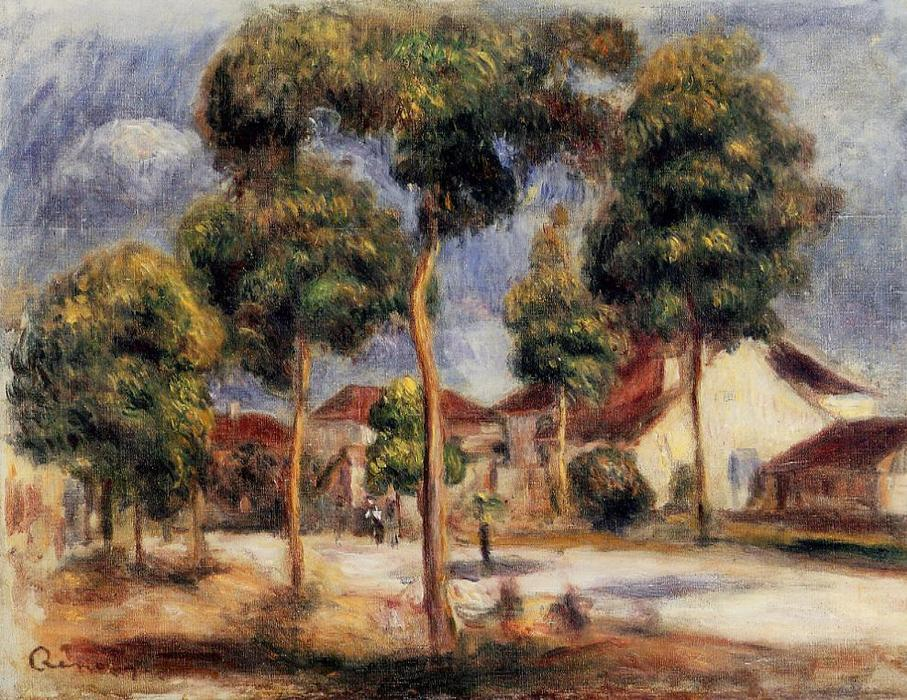 famous painting Il Sunny strada of Pierre-Auguste Renoir