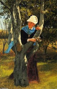 John George Brown - tra i alberi