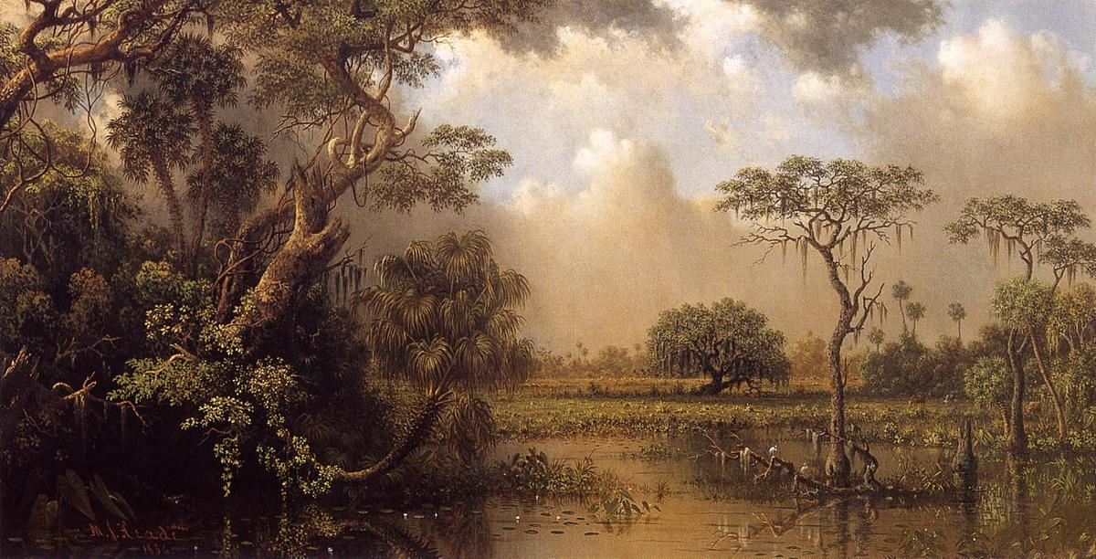 famous painting Il Grande Florida Palude of Martin Johnson Heade