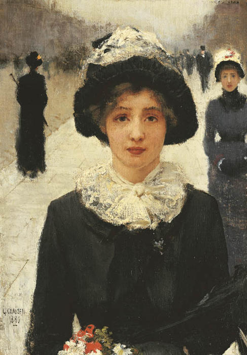 famous painting nel strada of George Clausen