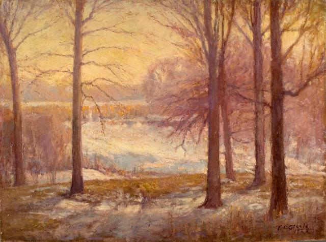 Ordinare Riproduzioni D'arte | scena di inverno di Theodore Clement Steele | Most-Famous-Paintings.com