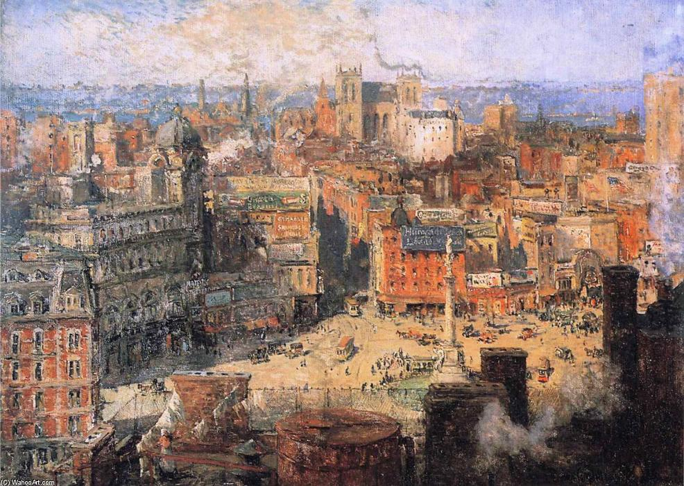 Ordinare Riproduzioni Di Belle Arti | Columbus Circle di Colin Campbell Cooper | Most-Famous-Paintings.com