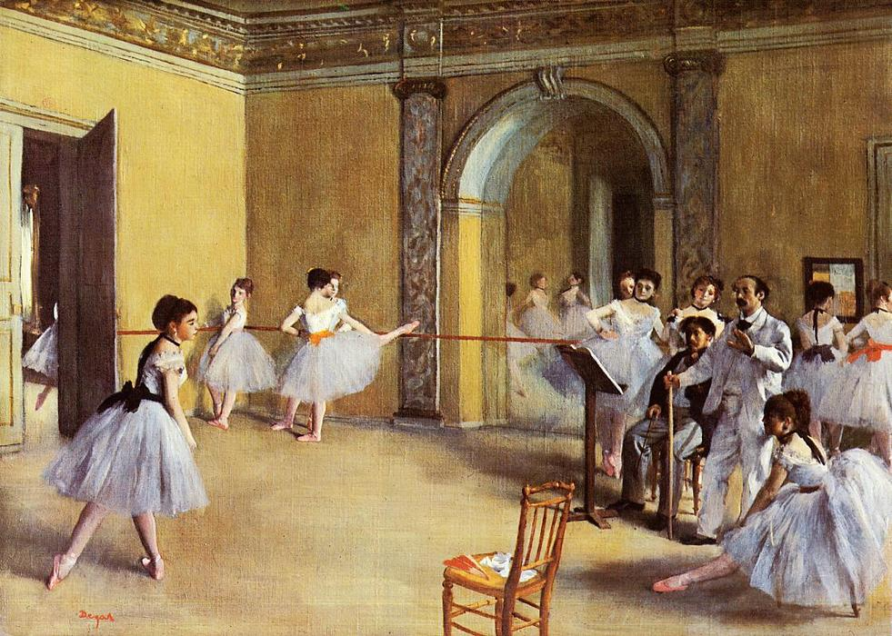 famous painting danza `class` all'opera of Edgar Degas