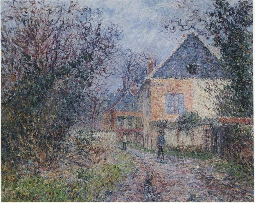 famous painting Case vicino al Eure of Gustave Loiseau