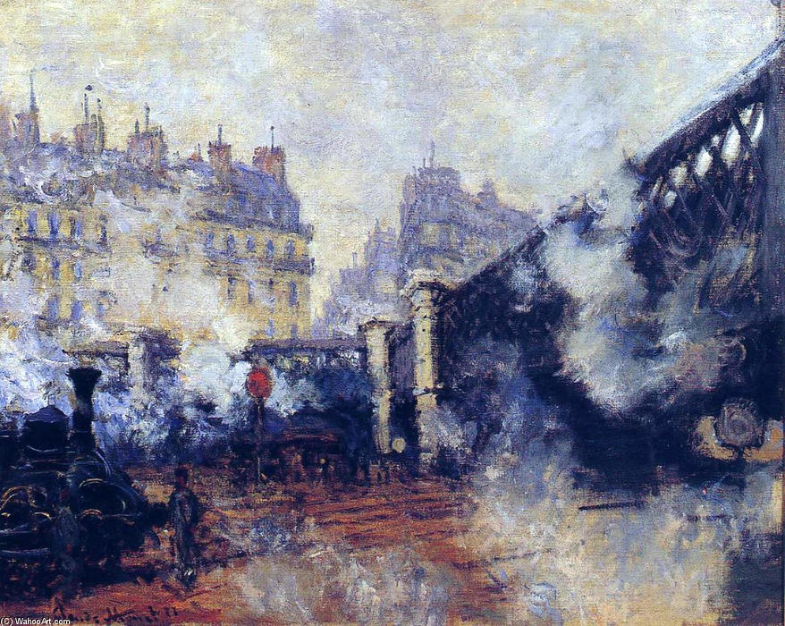 Ordinare Riproduzioni D'arte | il pont de l'Europe , Gare Saint-Lazare di Claude Monet | Most-Famous-Paintings.com