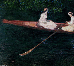 Claude Monet - The Pink Skiff, Canottaggio sul Ept