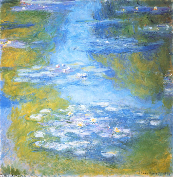 famous painting acqua gigli 23 of Claude Monet