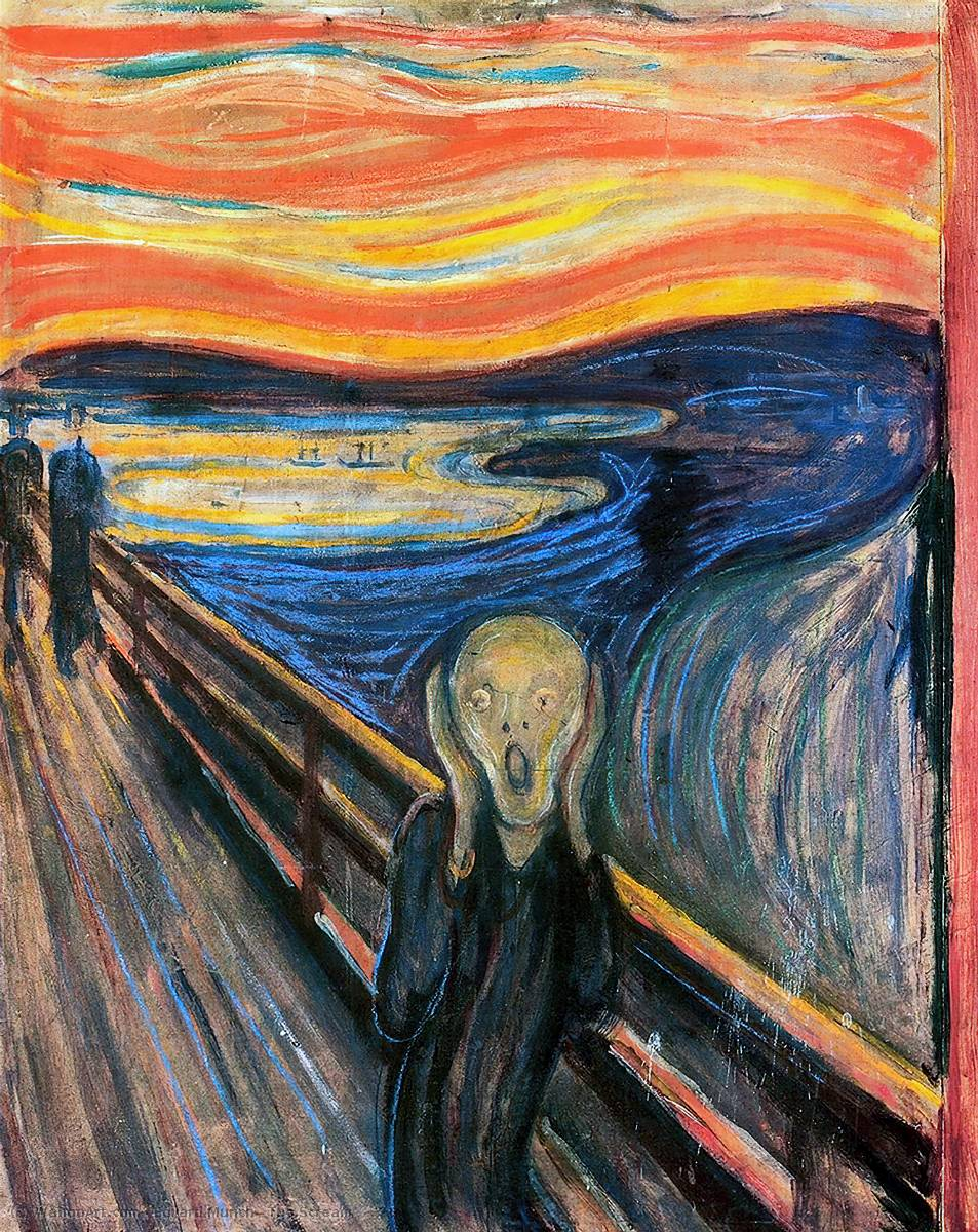 famous painting L urlo of Edvard Munch