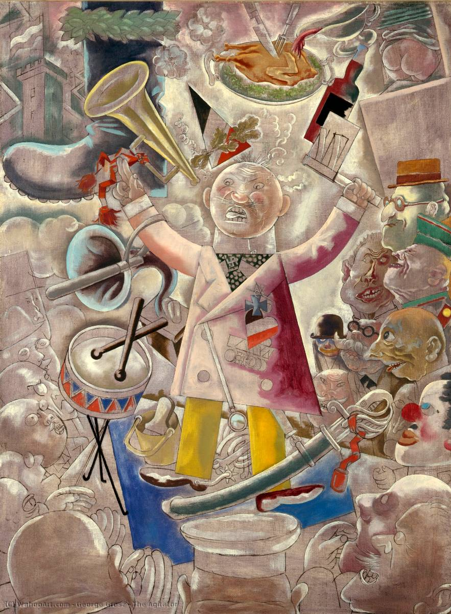 famous painting Il Agitator of George Grosz
