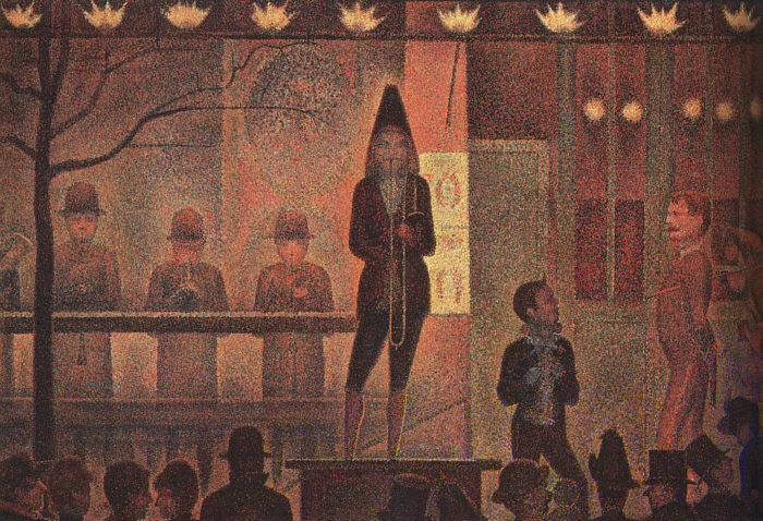 famous painting circus sideshow of Georges Pierre Seurat