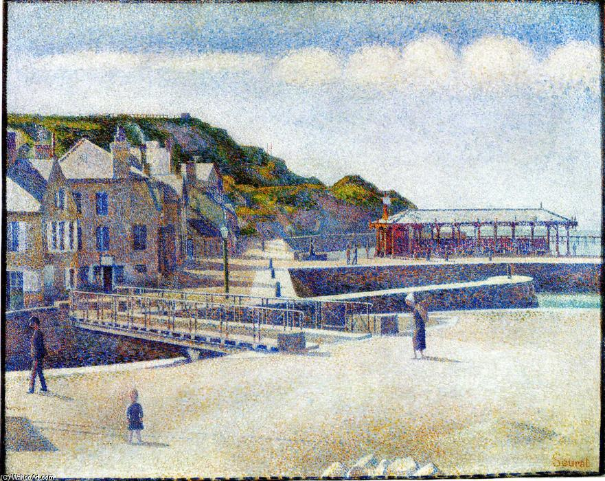 famous painting Il Porto e il Quays a Port-en-Bessin of Georges Pierre Seurat